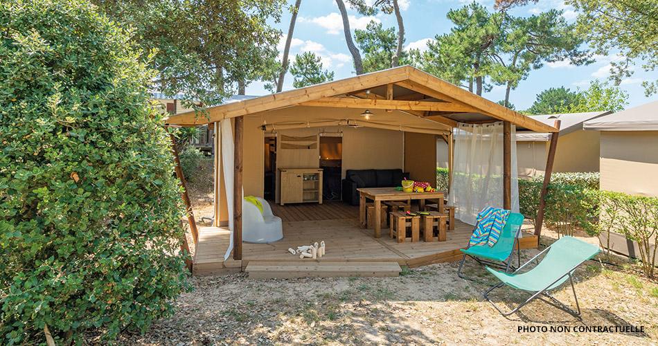 tentes aménagés éco camping Corse bord de mer
