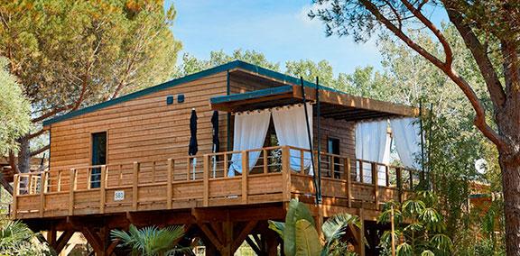 Lodge luxe camping haute Corse bord de mer